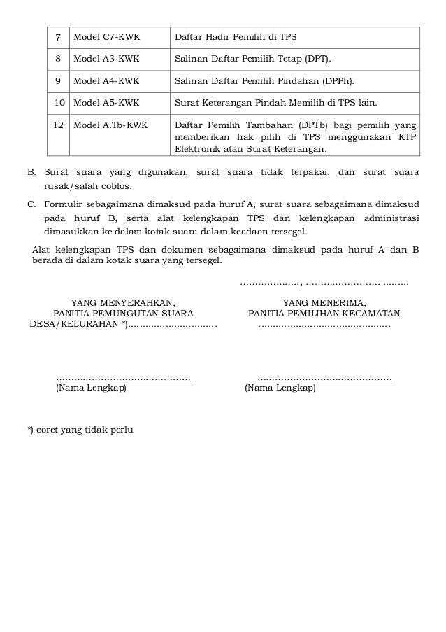 Pkpu 15 2016 Perubahan Atas Peraturan Komisi Pemilihan Umum Nomor 11