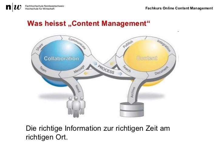 """Was heisst """"Content Management"""" Die richtige Information zur richtigen Zeit am  richtigen Ort."""