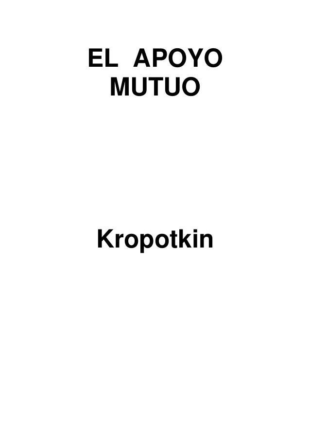 EL APOYO MUTUOKropotkin