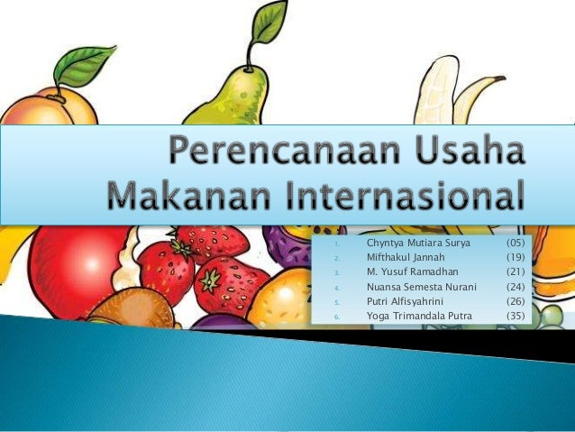 Pkwu Perencanaan Usaha Makanan Internasional