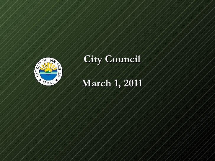 City Council March 1, 2011