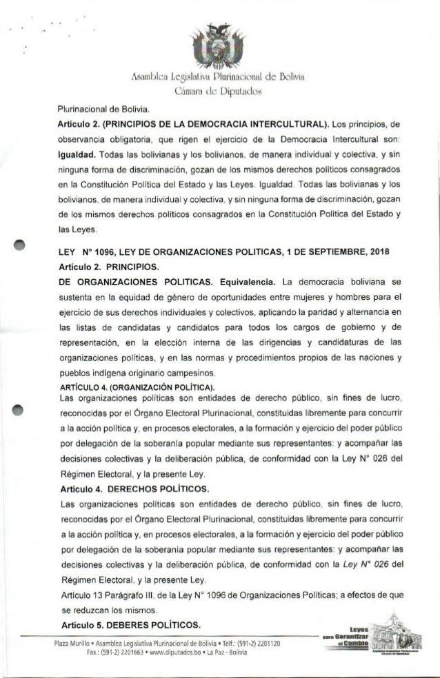 Proyecto de ley de Alternancia en Bolivia