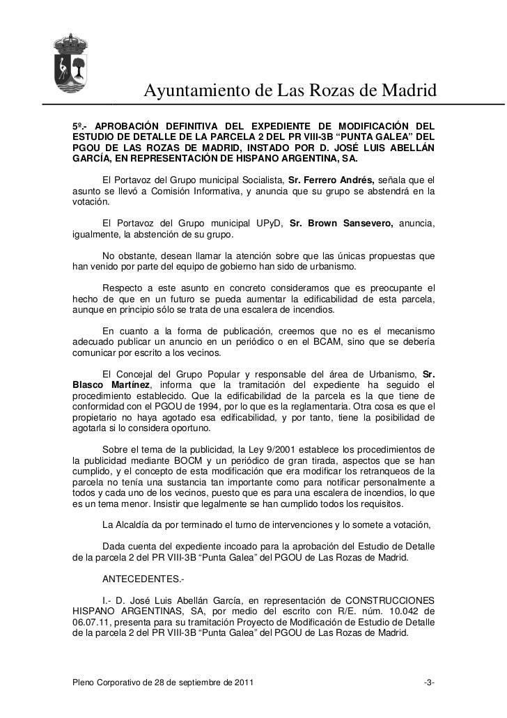 Acta del Pleno Municipal del 28 de septiembre de 2011 Slide 3
