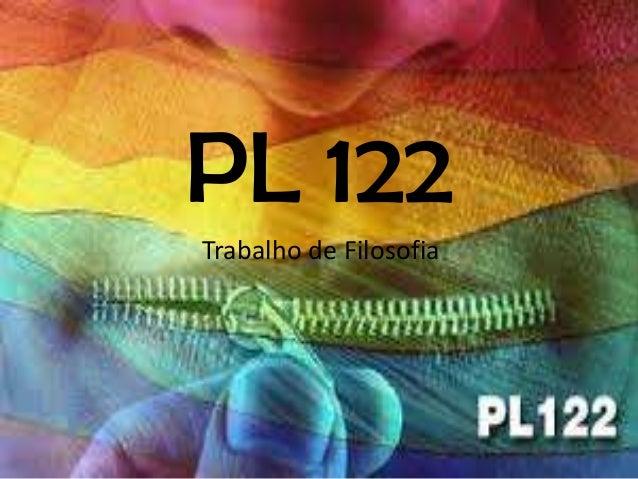 PL 122Trabalho de Filosofia