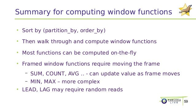 Window functions in mariadb 10 2 for Window functions