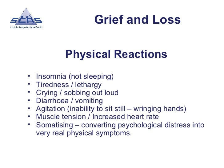 psychological and physical effects of loss and grief essay The time course of grief reactions to spousal loss: investigated whether widowhood had more enduring effects using a nationally school of psychology.