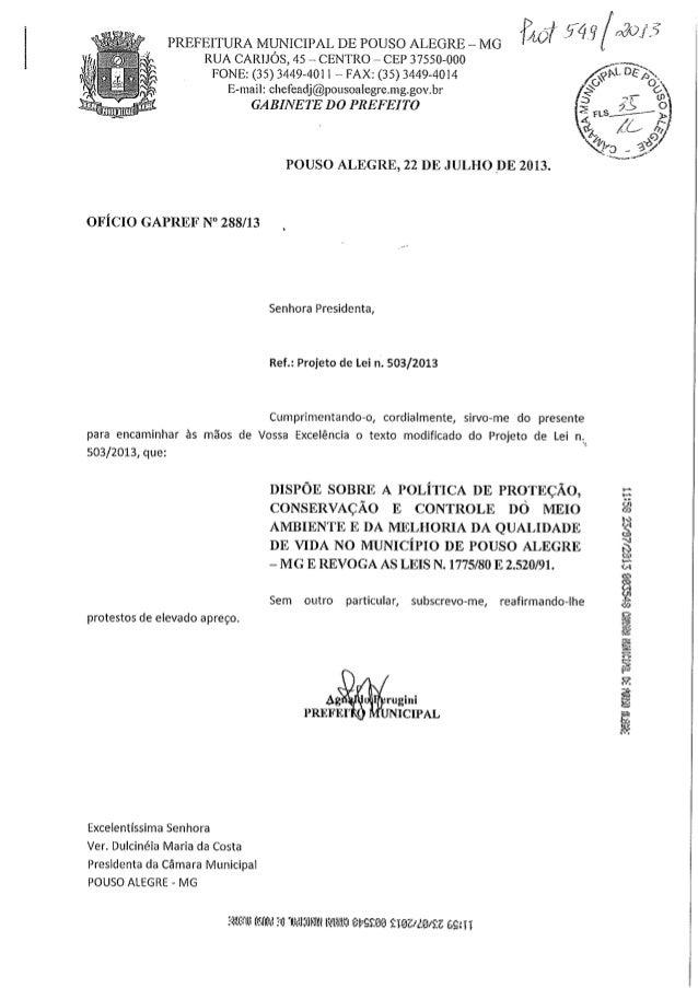 Pl 503 2013 - segunda modificação do texto - 23-07-2013