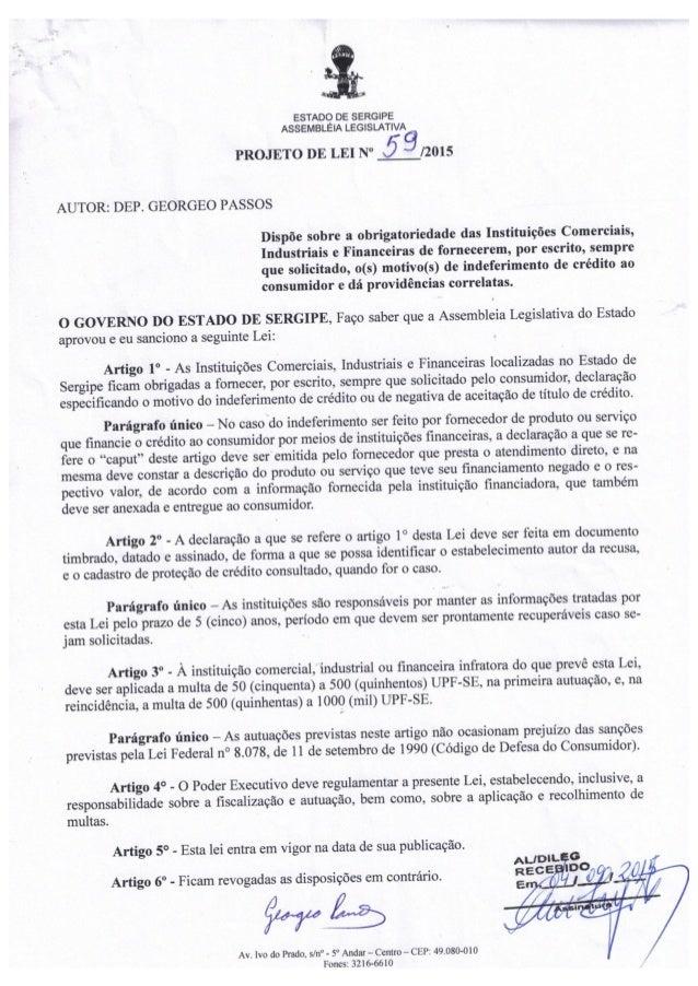 Projeto de Lei nº 59/2015