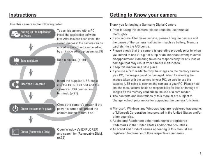 Samsung Camera PL65 User Manual Slide 2