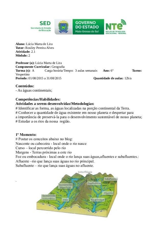 Aluno: Lúcia Marta de Lira Tutor: Rosiley Pereira Alves Atividade: 2.1 Módulo: 2 Professor (a): Lúcia Marta de Lira Compon...