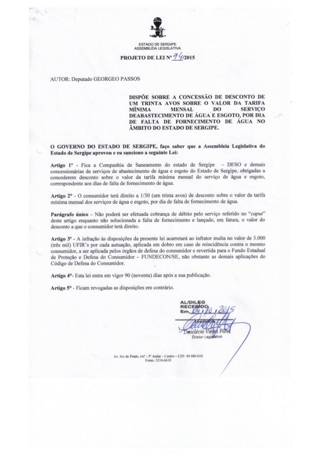 Projeto de Lei nº 94/2015