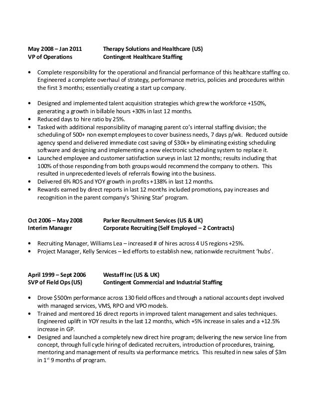 My Resume – Recruiting Manager Resume