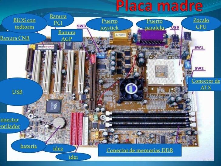 Ranura      BIOS con         PCI             Puerto         Puerto       Zócalo      tedtorm                         joyst...