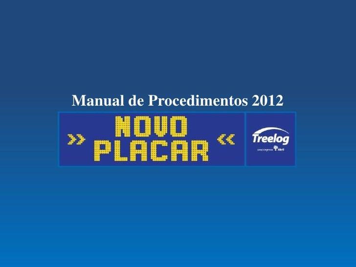 Manual de Procedimentos 2012