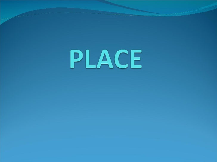 PLACE/ CHANNEL OF DISTIBUTION Place represents the location where a product can be  purchased. It is often referred to as...
