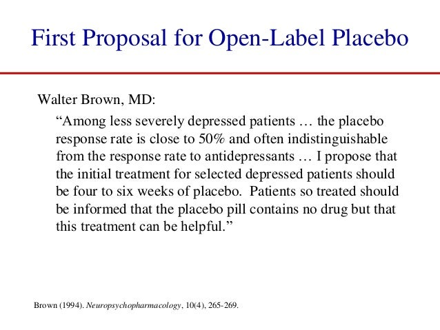 Should Placebos Be Used to Treat Patients?