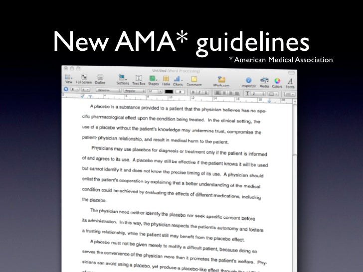 New AMA* guidelines              * American Medical Association