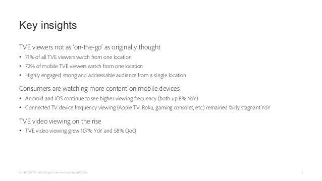 Adobe Digital Index Q1 2016 Digital Video Benchmark Report Slide 3