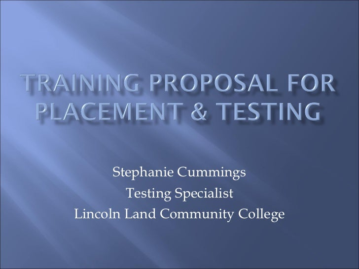 Stephanie Cummings Testing Specialist Lincoln Land Community College