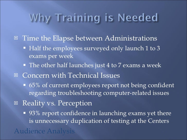 <ul><li>Time the Elapse between Administrations </li></ul><ul><ul><li>Half the employees surveyed only launch 1 to 3 exams...