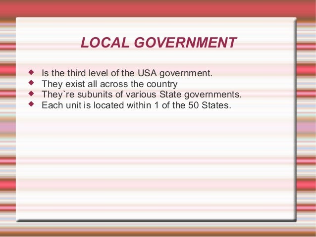 Place of Local Government in a Federal System. Slide 2