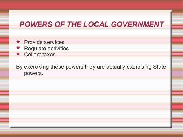 Place of Local Government in a Federal System. Slide 3