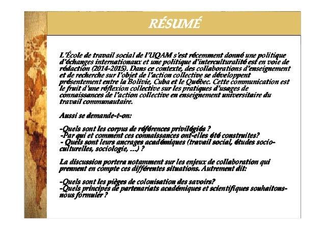 2014-3-25 RRRRÉÉÉÉSUMSUMSUMSUMÉÉÉÉ LLLL''''ÉÉÉÉcole de travail social de lcole de travail social de lcole de travail socia...