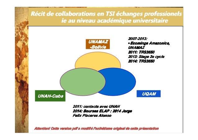 2014-3-25 RRRRéééécit de collaborations en TSIcit de collaborations en TSIcit de collaborations en TSIcit de collaboration...
