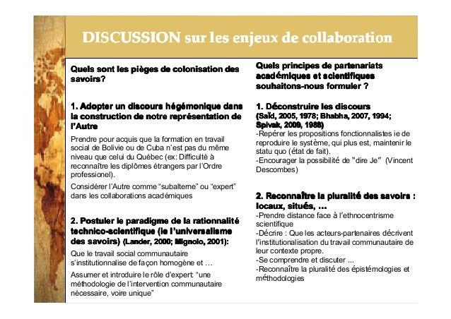 2014-3-25 DISCUSSION sur les enjeux de collaborationDISCUSSION sur les enjeux de collaborationDISCUSSION sur les enjeux de...