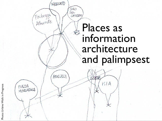 Places as information architecture and palimpsest Photo:UrbinoWalkinProgress