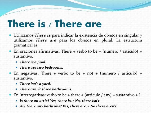 there is there are con partes de la casa