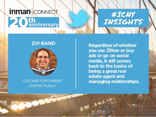ZVI BAND CEO AND COFOUNDER CONTACTUALLY #ICNY INSIGHTS Regardless of whether you use Zillow or buy ads or go on social med...