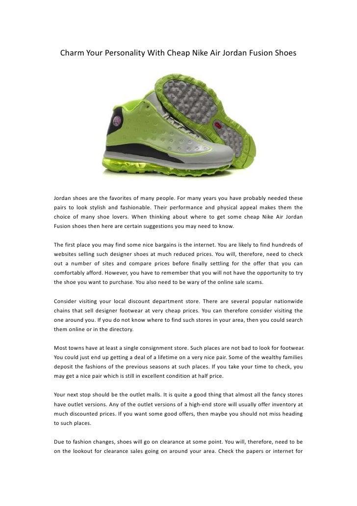get cheap nike air jordan fusion shoes