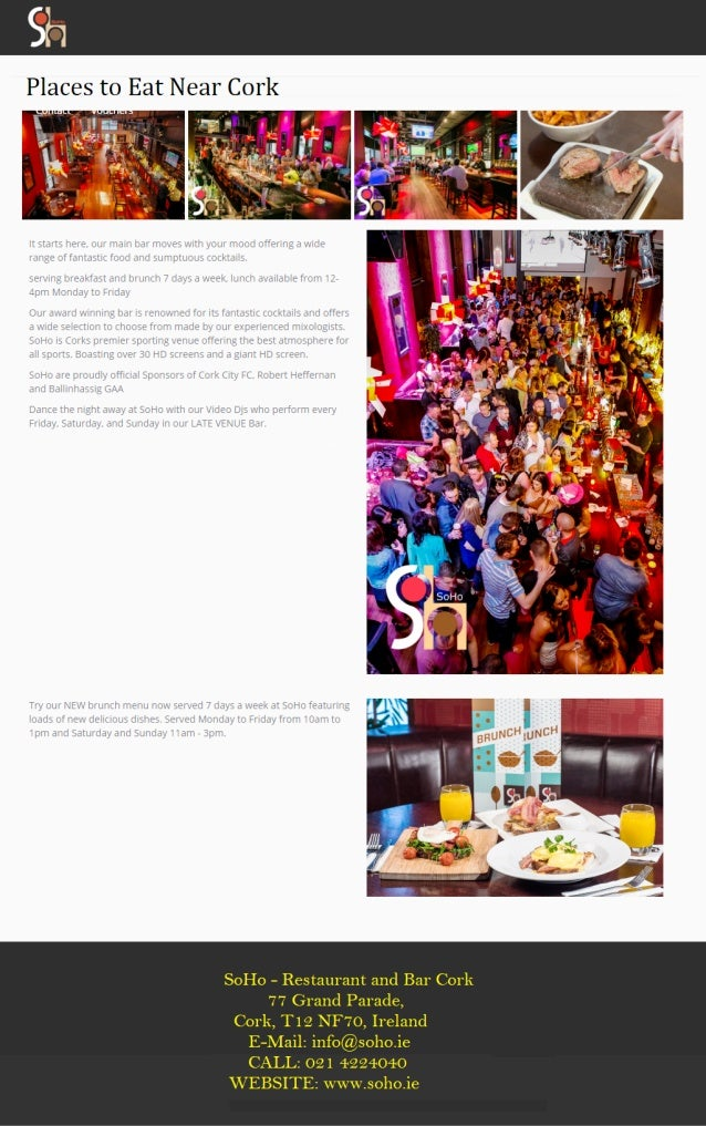 Places To Eat Near Me I So Ho Bar Amp Restaurant