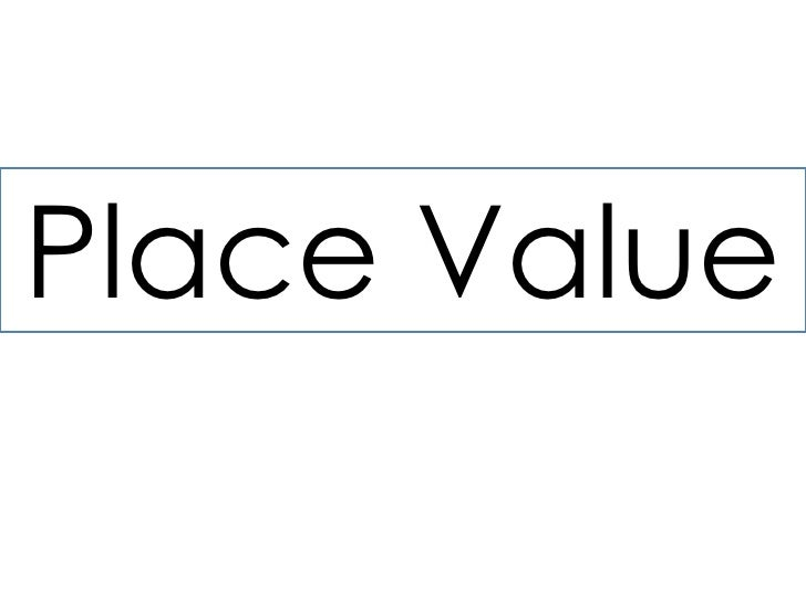 Place Value<br />