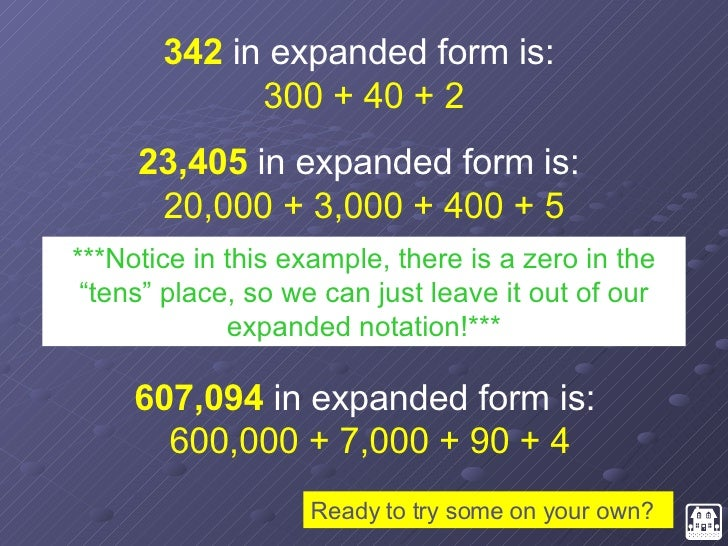 expanded form 39 005  Place Value Review