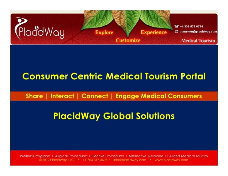Consumer Centric Medical Tourism Portal          Share | Interact | Connect | Engage Medical Consumers                    ...