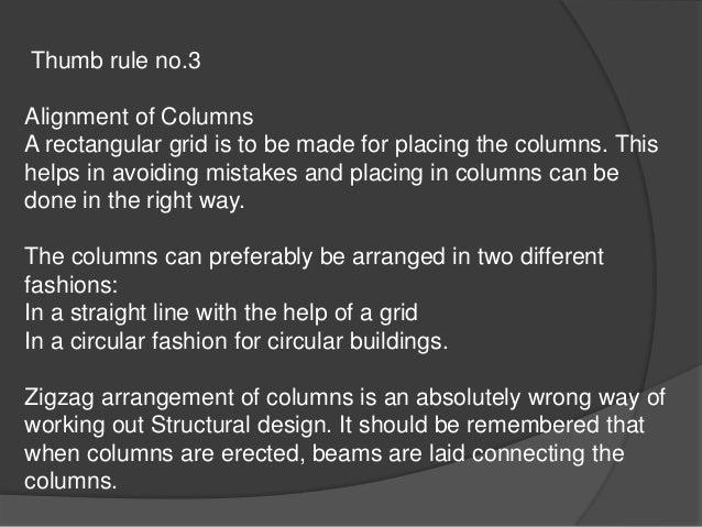 Placing column layout