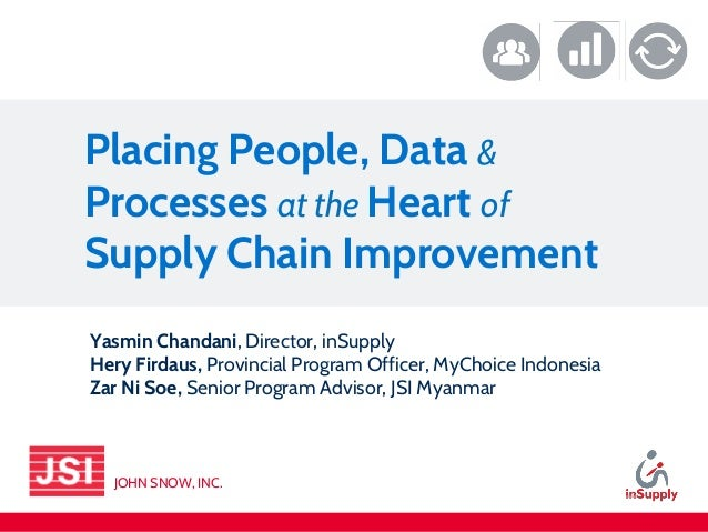 Placing People, Data & Processes at the Heart of Supply Chain Improvement Yasmin Chandani, Director, inSupply Hery Firdaus...