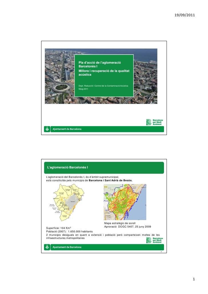 19/09/2011                         Pla d'acció de l'aglomeració                         Barcelonès I                      ...