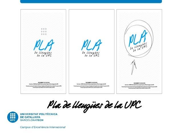 Pla de llengües de la UPC