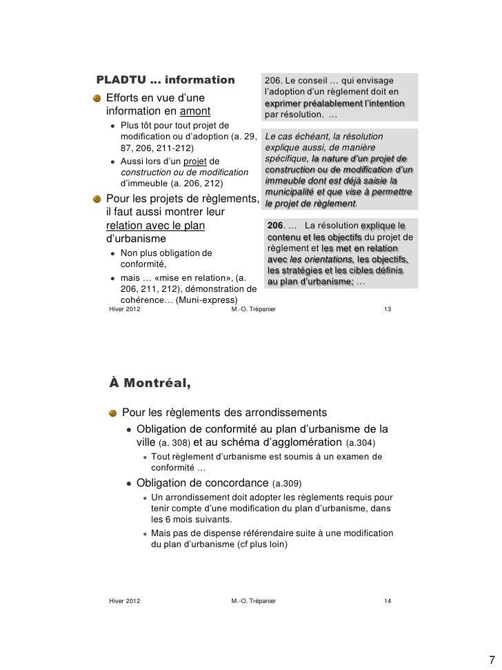 PLADTU … information                            206. Le conseil … qui envisage                                            ...