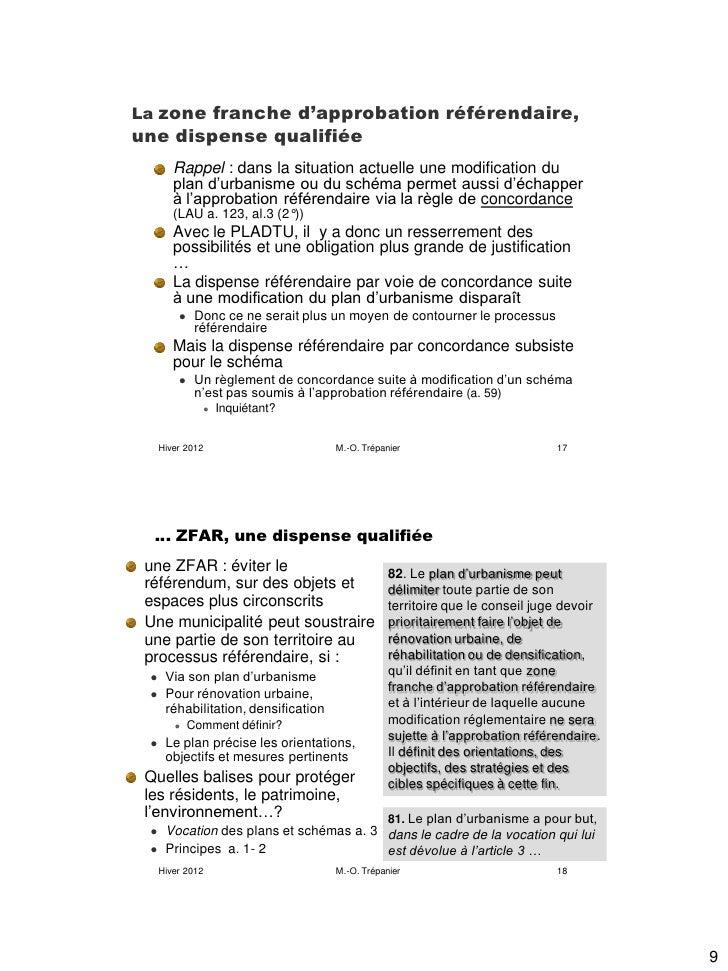 La zone franche d'approbation référendaire,une dispense qualifiée        Rappel : dans la situation actuelle une modificat...