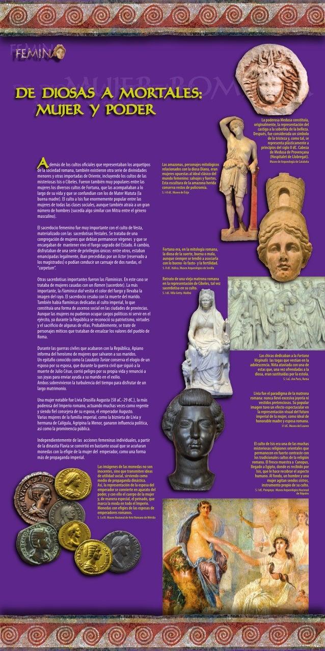 Plafón 06. De diosas a mortales: mujer y poder.