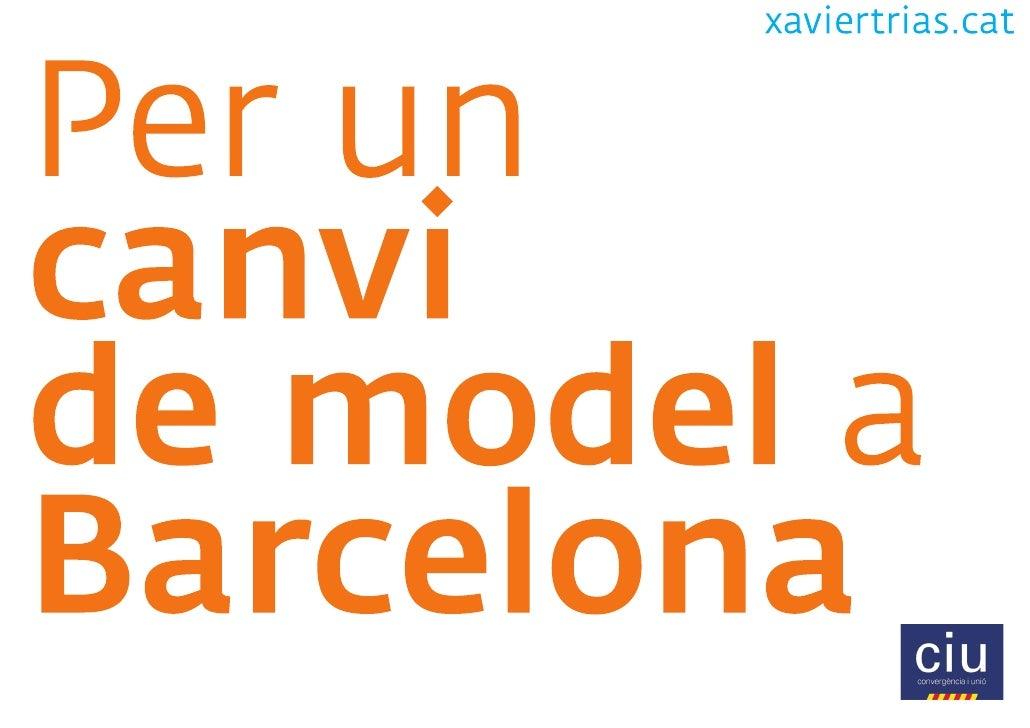 Per un canvi de model a Barcelona