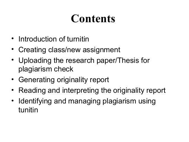 PLAGIARISM DETECTION & MANAGEMENT USING TURNITIN Slide 2