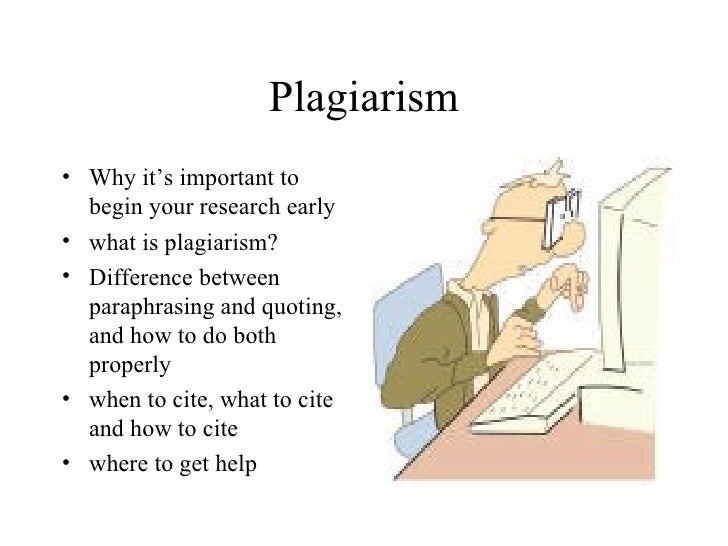 Plagiarism <ul><li>Why it's important to begin your research early </li></ul><ul><li>what is plagiarism? </li></ul><ul><li...