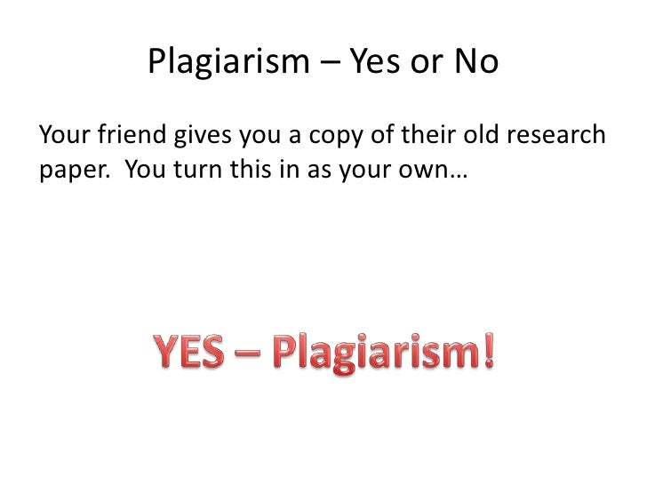 Is buying a research paper plagiarism