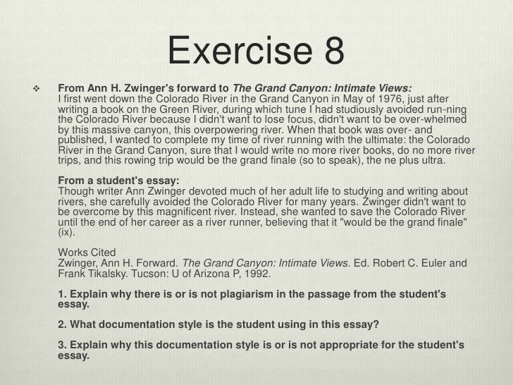 Paraphrasing exercises apa