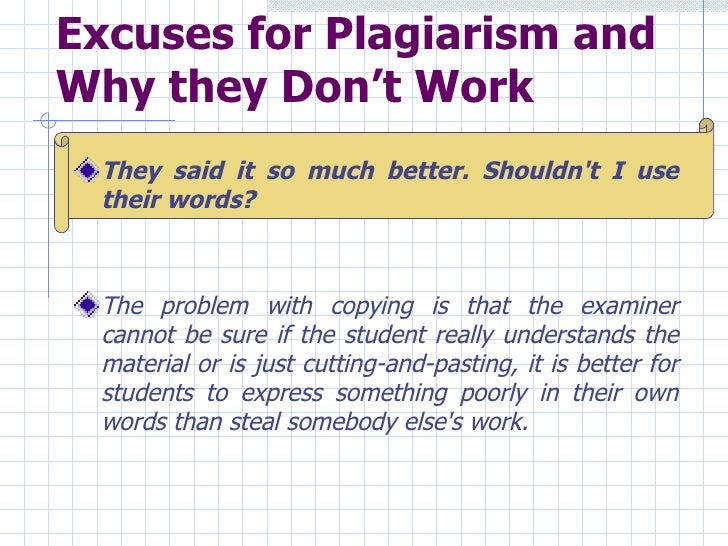 For what reason might be plagiarism any problem?